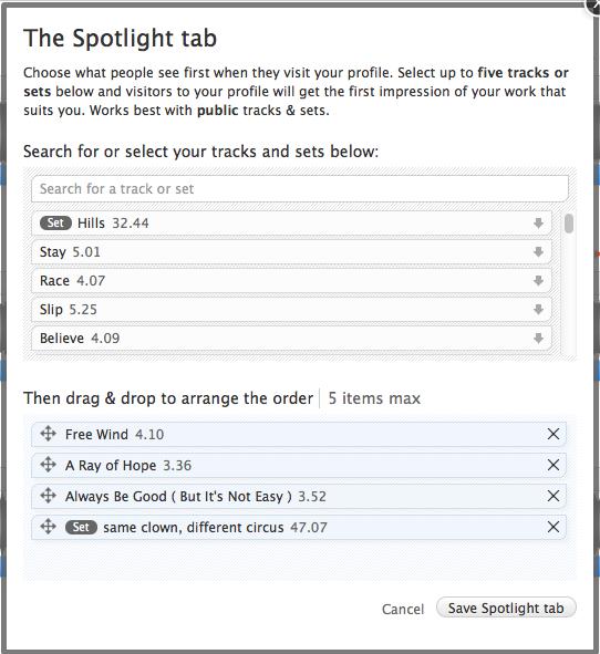 sound cloud spotlightタブ追加 music for yourself so netブログ